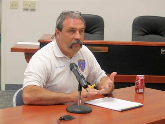 County Emergency Services Director Paul Quairoli discussed preparations for the Fourth of July holiday in Chaparral at the county commission's regualr meeting Thursday.