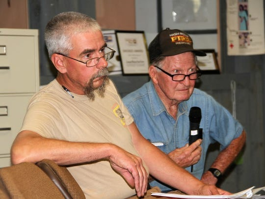 Volunteer firefighters from High Rolls made a few suggestions and comments to the latest draft of their standards policy at a special county commission meeting Tuesday evening in Cloudcroft.