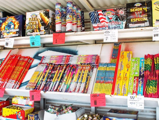 In this file photo, fireworks are on display at a Mr.