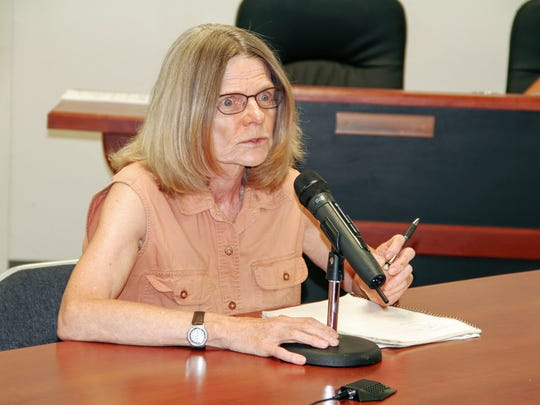 A concerned Mayhill resident expressed her opinion and was concerned over the Fort Bliss high altitude training in the Lincoln Forest at the county commission meeting last Thursday.