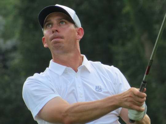 Pro Patrick Fillian is in second place after the second round of the 98th New Jersey Open golf championship at Montclair Golf Club in West Orange on Thursday, July 26.
