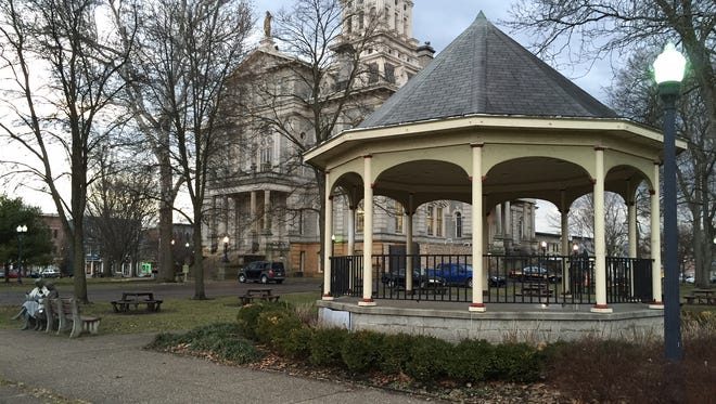 The gazebo will be moved from the grounds of the Licking County Courthouse to the lawn of the former children's home on East Main Street.