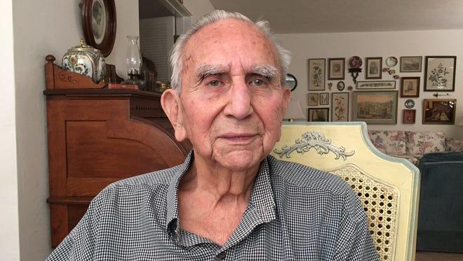 Howard Medoza of Indio served in the Merchant Marines during World War II.