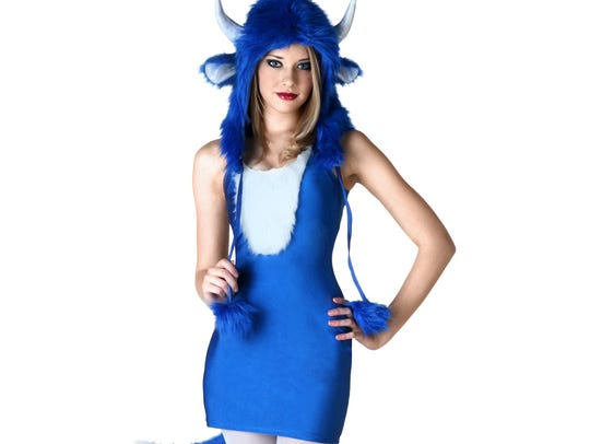 This costume blue it.
