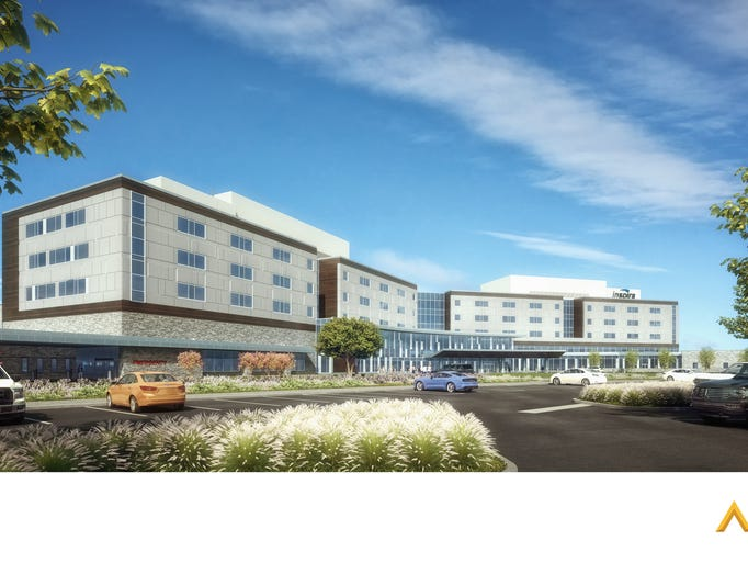 A drawing of the future Inspira hospital in Mullica