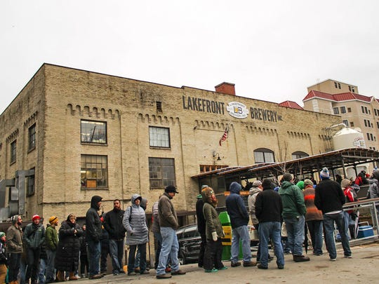 They'll be lining up at Lakefront Brewery for its annual Black Friday limited-edition beer event.