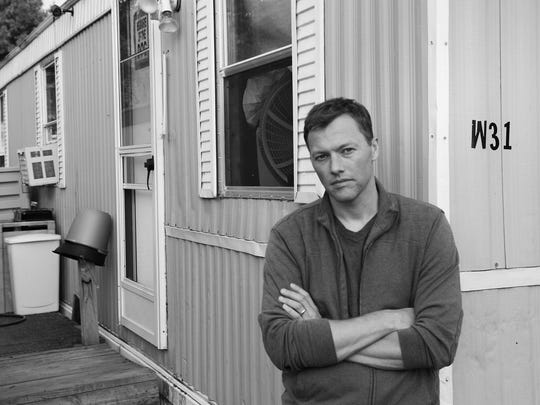 """Matthew Desmond in a Milwaukee trailer park on the south side, where he lived for six months in 2008 while doing research for his book """"Evicted."""""""
