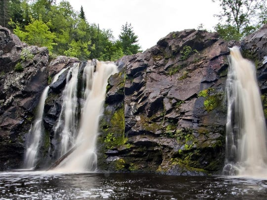 Pattison State Park in Douglas County is home to two waterfalls: Big Manitou, at 165 feet, and Little Manitou, at 31 feet and pictured here.