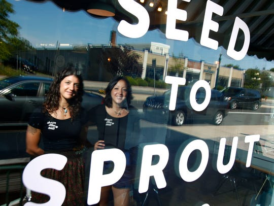 Seed to Sprout owners Cara Pescatore (left) and Alex