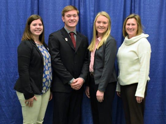 Iowa County 4-H Livestock Skillathon Team: (from left)