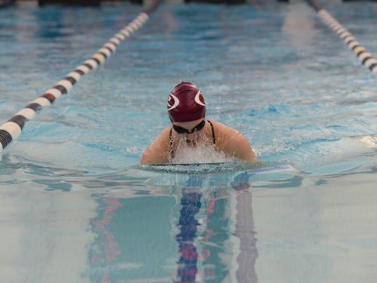 High school swimming meet