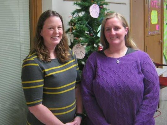 Trinity Lutheran School teachers Teresa Barthel (from left) and Heather Andreshak are nominees for the Kohl Teacher Fellowship Program. Barthel is a state finalist.