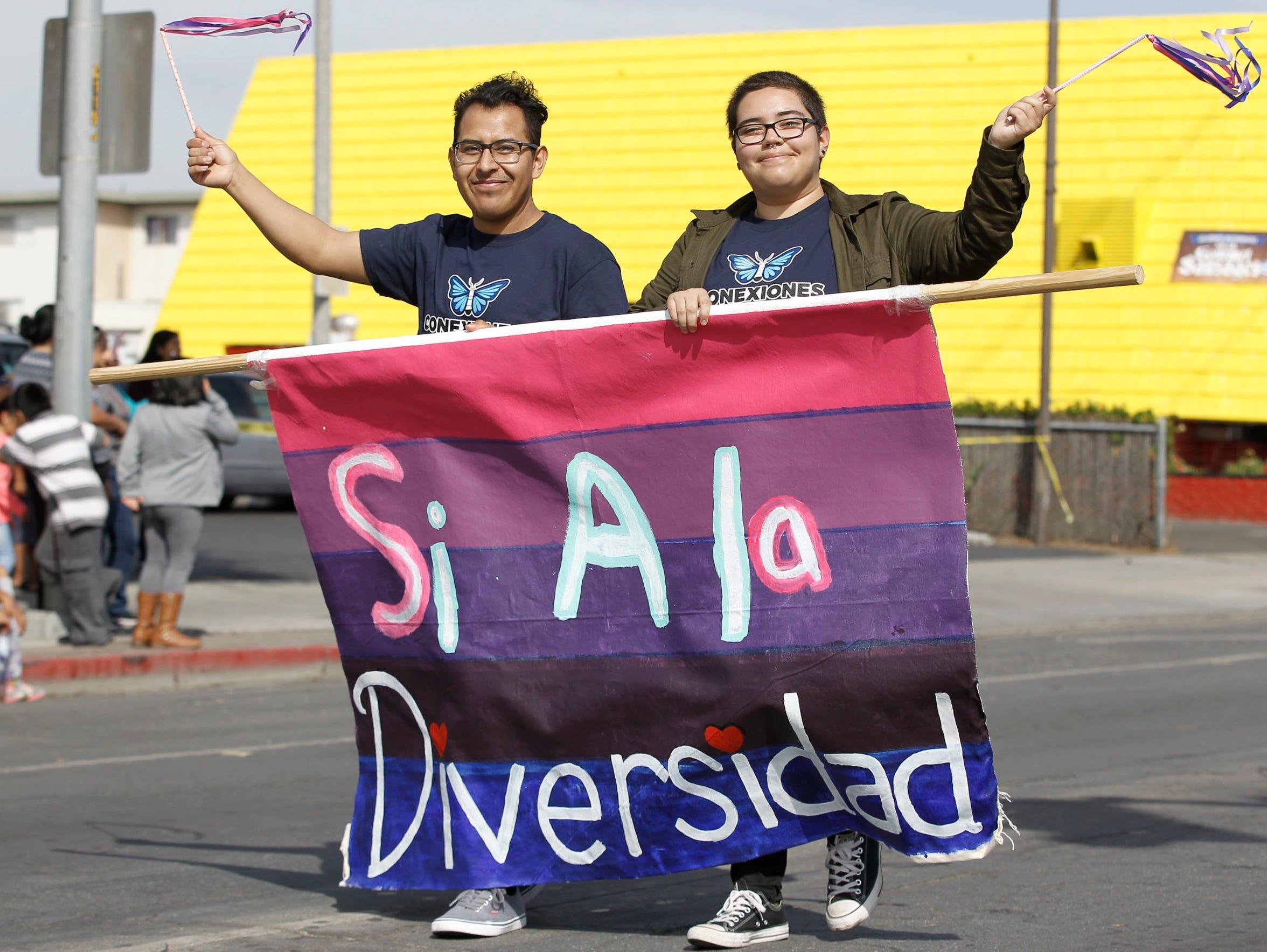 The El Grito Parade makes its way down east Alisal