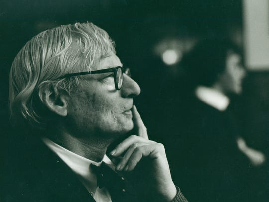 This portrait of architect Louis Kahn was created circa