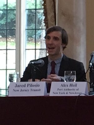 NJ Transit's Jared Pilosio, far left, participates in a panel discussion last month on the Superstorm Sandy recovery efforts he manages. Pilosio was an intern for Gov. Chris Christie and also worked at the Port Authority during Bridgegate.