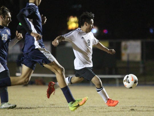 Godby's Jose Pacheco takes a shot during a 2-2 draw