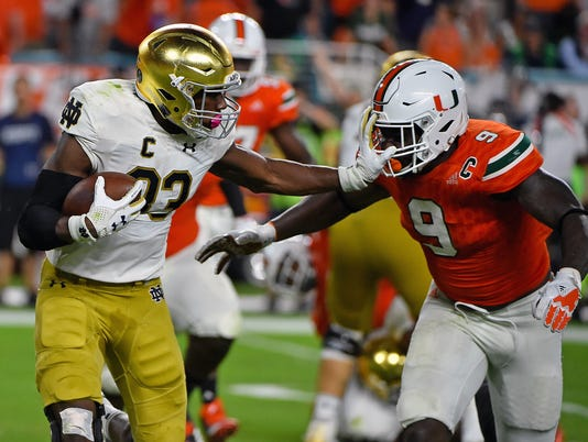 NCAA Football: Notre Dame at Miami