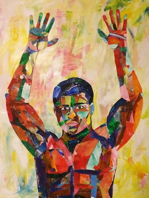 "Andy Perez's ""Muhammad Ali"" is part of the artist's solo show at the gallery of Lenihan Sotheby's International Realty."