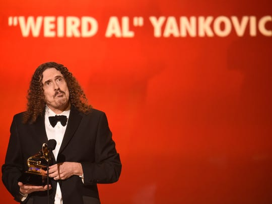 """""""Weird Al"""" Yankovic wins the comedy album at the 57th"""