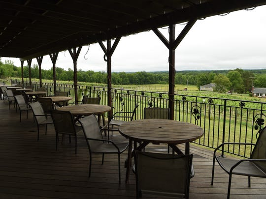 The outdoor patio at Robibero Winery in New Paltz.
