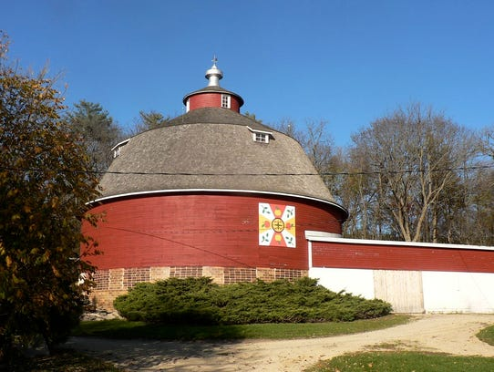 The 1922 round barn is an historic site and is still