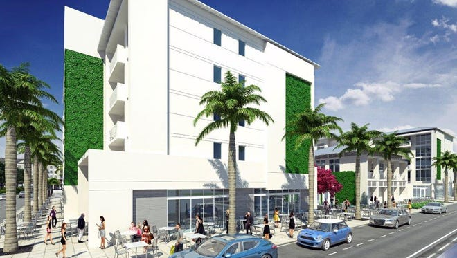 EBL Partners  is constructing a condo complex styled after the buildings of Key West in downtown Bonita Springs. Longitude will have two buildings with four floors of living space. Each building will have 24 one and two bedroom units for a total of 48 front doors.