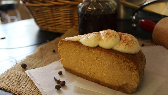 Sweet Lola's in downtown Wausau offers pumpkin cheesecake in the fall.