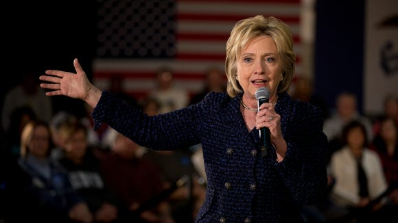 Hillary Clinton speaks at a rally on Jan. 11, 2016,