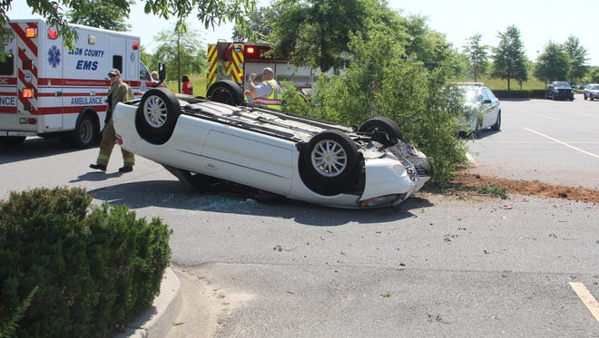 Single- vehicle accident in Costco's parking lot