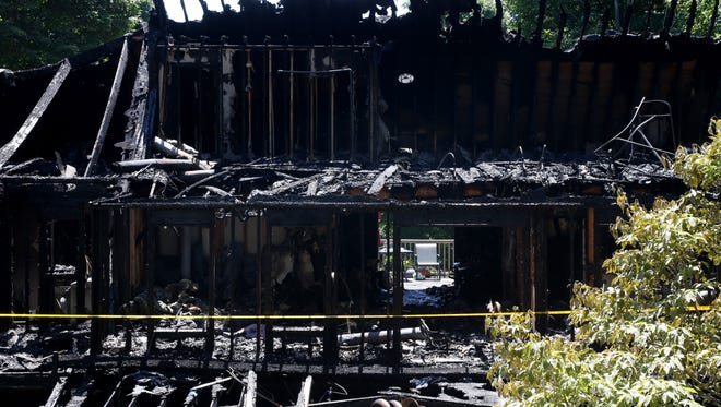 The scene of the fatal fire at 719 Old Post Road in New Paltz July 10, 2018.