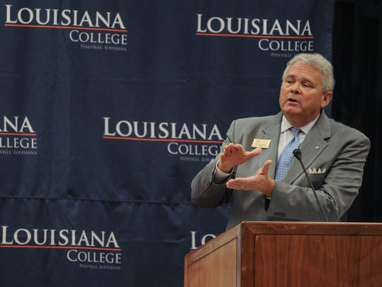 Rick Brewer became president of Louisiana College in Pineville in 2015.