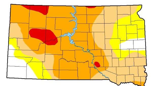 South Dakota drought conditions