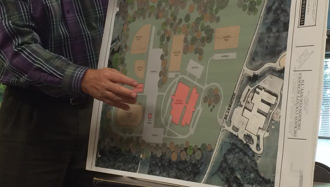 A rendering of what the proposed new Burns middle-high school might look across from Stuart-Burns Middle School.