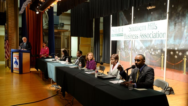 The first forum for Shreveport mayoral candidates event at Southwood High School Tuesday evening.