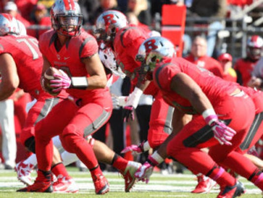 Quarterback Gary Nova will make his 29th career start tonight against Washington State but its his first appearance for Rutgers since Nov. 21 of last season. (File photo)
