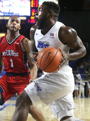 After being snubbed on Conference USA's first and second teams, standout guard Giddy Potts (20) could be playing with a chip on his shoulder.