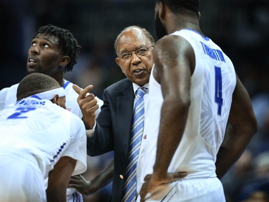 University of Memphis Head Coach Tubby Smith directs