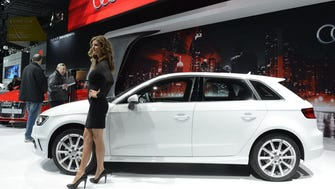 An Audi A3, shown here at the New York Auto show last year, was the first Audi model to roll out with AT&T 4G LTE hotspot.
