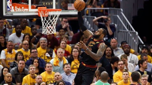 Cleveland Cavaliers forward LeBron James (23)...