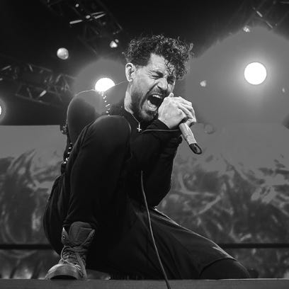 Davey Havok of the band AFI (A Fire Inside) performs