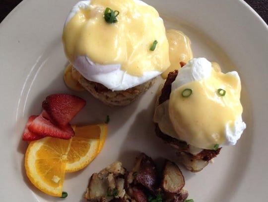 Cajun eggs benedict at Village Cafe.