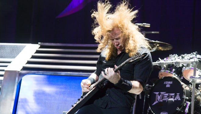 Dave Mustaine of Megadeth performs at Ozzfest 2016 at San Manuel Amphitheater on September 24, 2016 in San Bernardino, Calif. (Amy Harris/Invision/AP)
