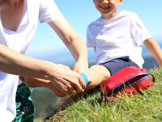 Make sure your travel first-aid kit has children's