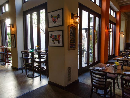 Catalan's in Rancho Mirage offers interior and courtyard