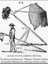 A bee swarm catcher invented by Bristol's A.E. Manum.