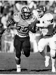 Former Purdue star Rod Woodson totaled 236 all-purpose