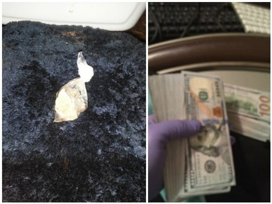 Heroin and money seized during a drug bust in Fort