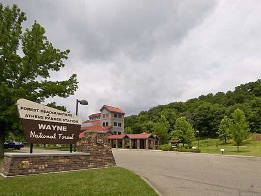 The Wayne National Forest headquarters and welcome