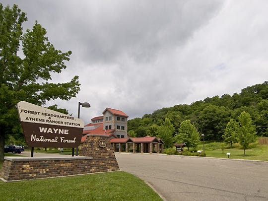 The Wayne National Forest headquarters and welcome center located near Nelsonville in Athens County.