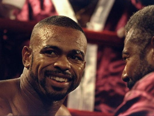 Roy Jones Jr., shown here in 1998, looks on during